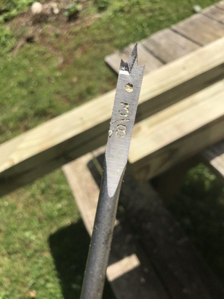 3/8 inch paddle spade drill bit