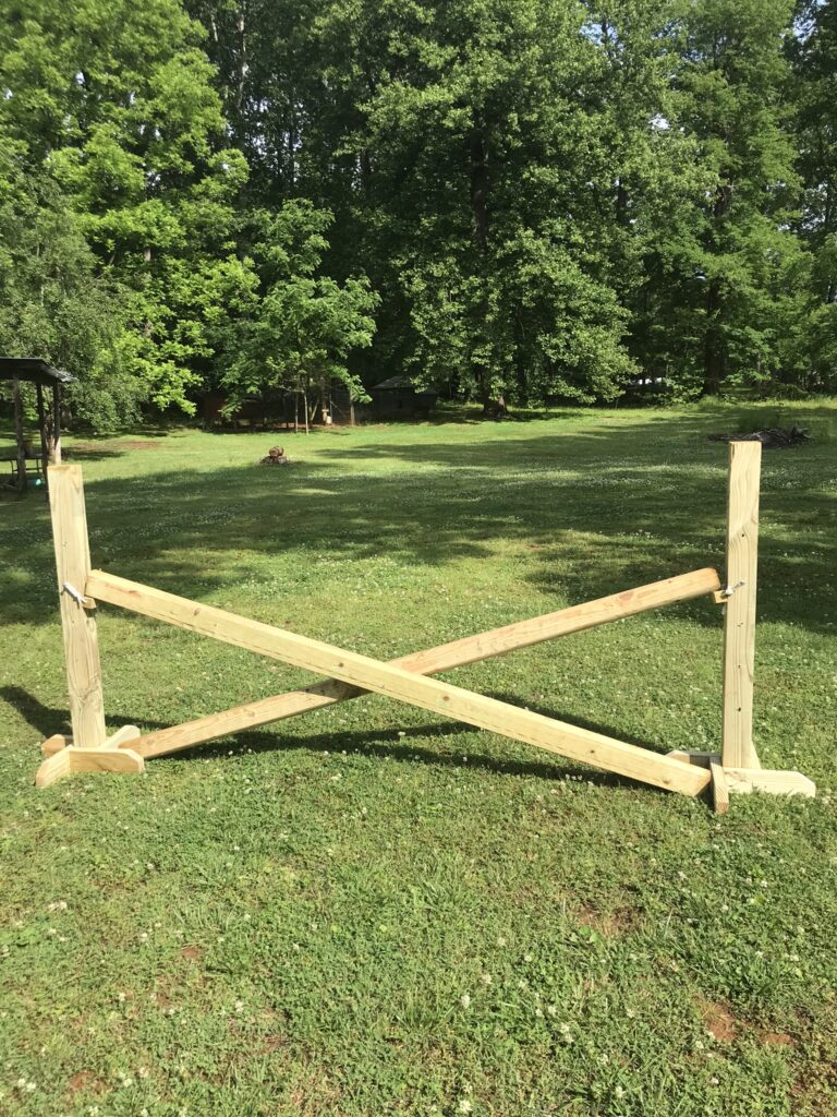DIY horse show jump completed